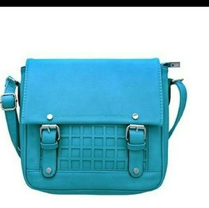 Handbags - Blue Silver Hardware Crossbody